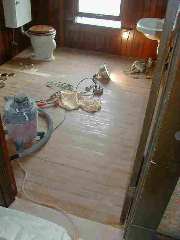 Bathroom Wood Floor Treatment